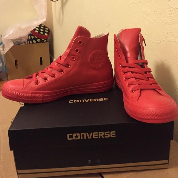 cc0d1df3397e1a converse rubber rain waterproof sneaker rare red