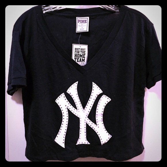 f1a663b933 PINK Victoria s Secret New York Yankees crop top