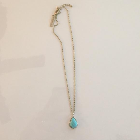bc273ed267daf9 Kendra Scott Jewelry - Kendra Scott kiri small turquoise teardrop pendant