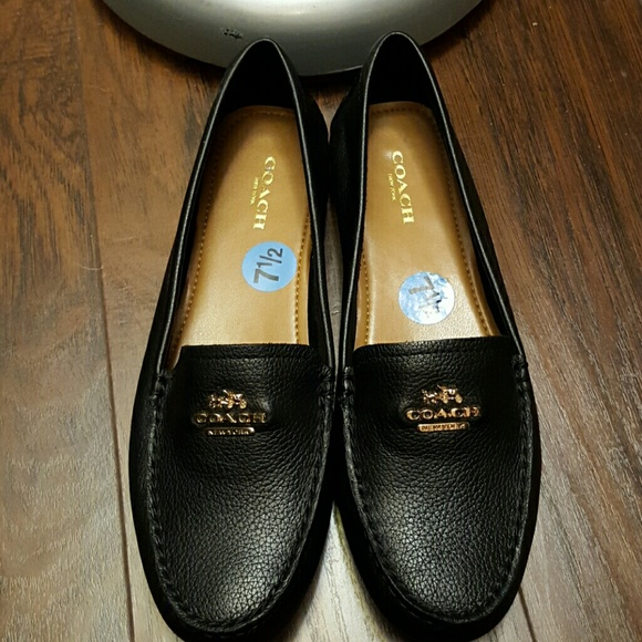 628804e1a65 Coach Shoes - Coach black leather loafers
