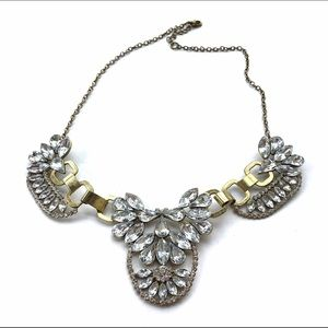 Crystal Antique Vintage Style Statement Necklace