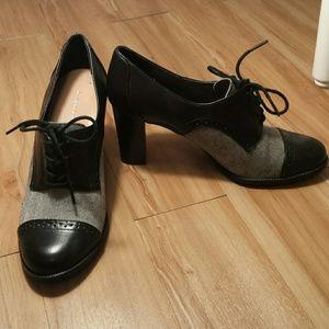 Etienne Aigner Shoes - Etienne Aigner tweed Jodell oxford bootie