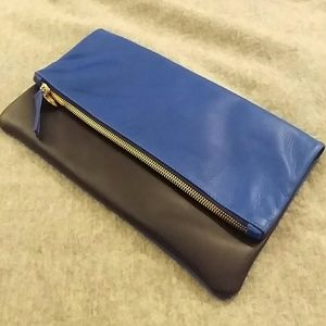 Blue Clare Vivier leather wallet on Poshmark
