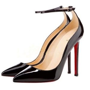 Shoes - NIB Red Bottom Ankle Strap Pointed Toe Pumps