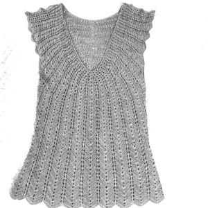 Tops - Silver shimmery crochet shirt. See 1st pic