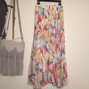NWT Alice and Olivia watercolor maxi size 0