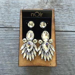 NWT Noir Crystal Earrings