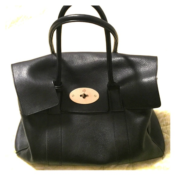 765b8e33b396 Mulberry Bayswater Black Veg Tanned Leather. M 56d7974e5c12f894e30020fd.  Other Bags ...