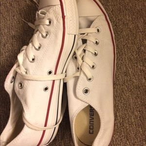 White Converse Sneakers women's size 9.5