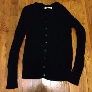 Old Navy Sweaters - Black cableknit cardigan