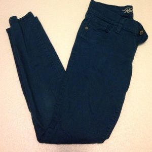 Old Navy Denim - Teal rockstar jeans