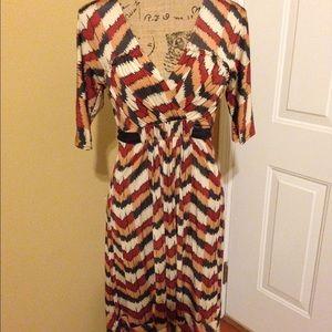 Retro print dress.