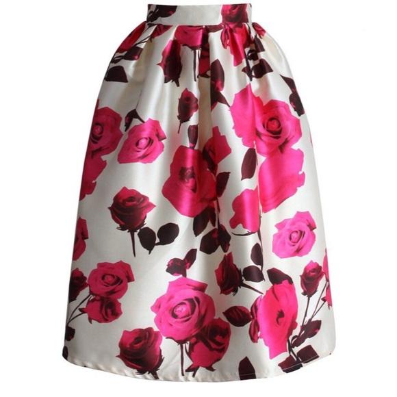 Lulu's Dresses & Skirts - NWT Rose Petal Midi Skirt