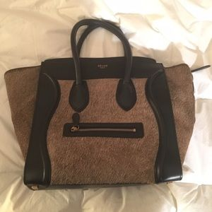 celini luggage - Celine - Suede & Pony Hair Diamond BG-#2944378 from Bagriculture's ...