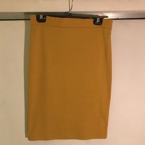 Iris LA Dresses & Skirts - Simple Mustard Pencil Skirt