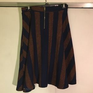 Timing Dresses & Skirts - Navy and Brown Circle Skirt