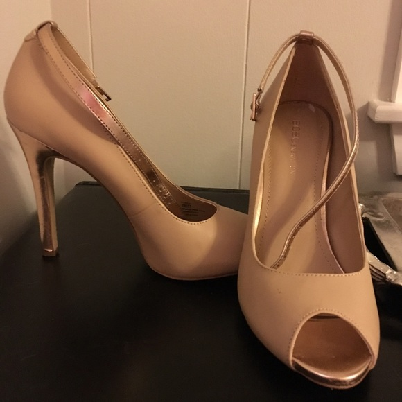 5c01249cf9 BCBGeneration Shoes | Bcbgnude Heels With Rose Gold Ankle Strap ...