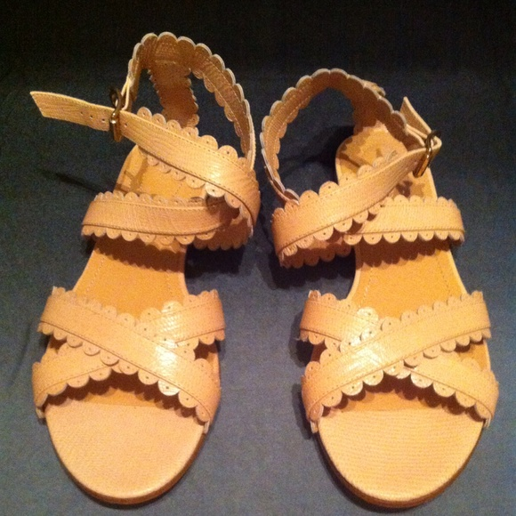 scalloped flat sandals - Yellow & Orange See By Chlo 5qbN7