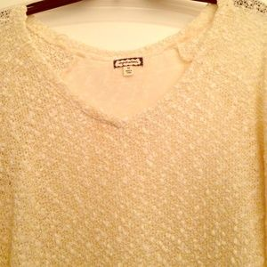 eyeshadow Tops - Gorgeous White Sweater with beautiful details