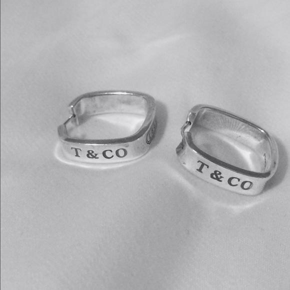 Tiffany & Co. 1837 Square Hoop Earrings
