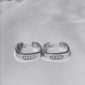 4fd0262bd6b3e Tiffany & Co. 1837 Square Hoop Earrings