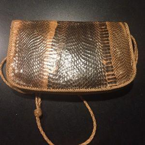  Handmade vintage Python purse