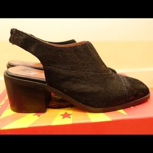 New Jeffrey Campbell Cow Hair Sling Backs
