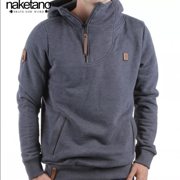 Naketano Sweaters   Mens Hoodie Sweatshirt Indigo Blue Xl   Poshmark 6654bb3631