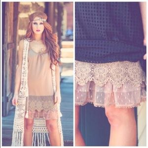 LACE Dress Extenders || Camel