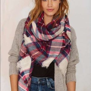 Nasty Gal plaid scarf