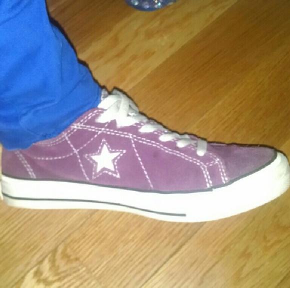 7bae9d22036f3c Converse Shoes - Plum-Purple suede Converse One Star