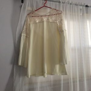 Lacey blouse.