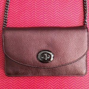 Coach Handbags - Coach metallic cherry mini crossbody NWT