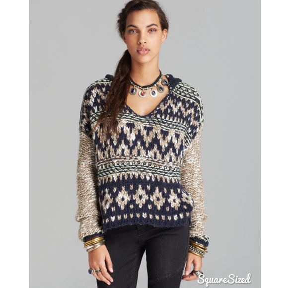 46% off Free People Sweaters - Free People Multicolor Hooded Fair ...