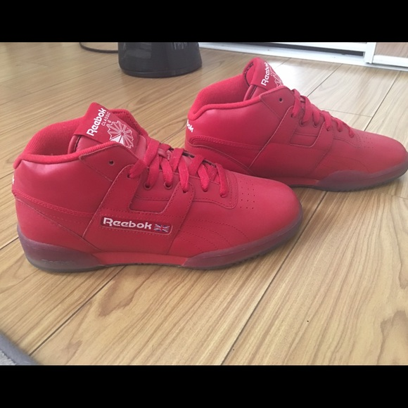 1efebec69916 NEW Rare All Red Reebok Classic Shoes. M 56d860117f0a059bc4005f47
