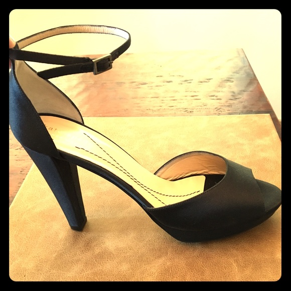 c8d28449ad25 kate spade Shoes - Kate Spade black satin peep-toe pump-Fit size 8.5