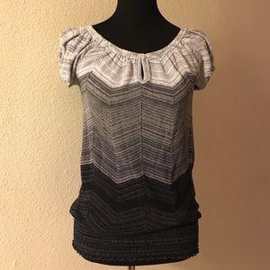 Xhilaration Tops - Xhilaration top, size small, black, grey, white