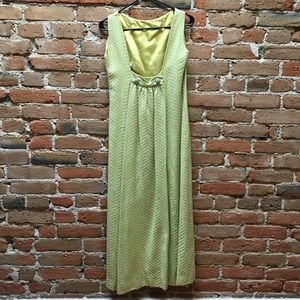 Light lime 1960's cocktail dress