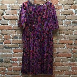 SALE SALE SALE Vintage late 1950's paisley dress