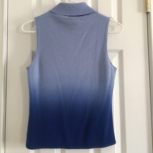 Takeout Tops - Blue Ombré Sleeveless Turtleneck