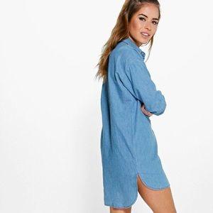d7f88167f0d Boohoo Dresses - NWT Boohoo Denim Shirt Dress (petite)