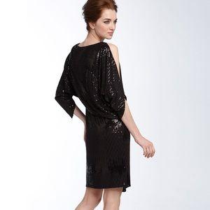David Meister Black Sequin Dress