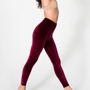 American Apparel Velvet Leggings Size Small