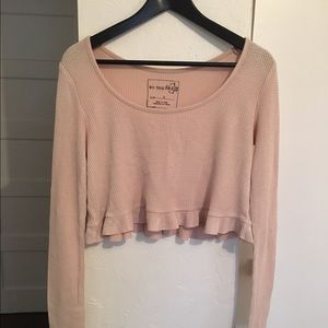 Free People Cropped Thermal Size Small
