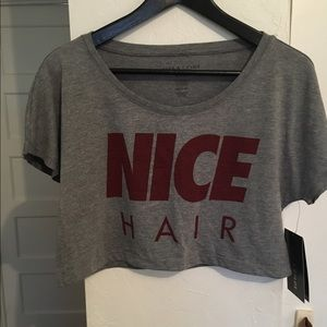 "Alex & Chloe ""Nice Hair"" crop top Size Medium"