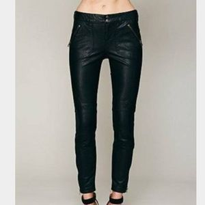 Free People Rocker Vegan Leather Crop Pants size 0