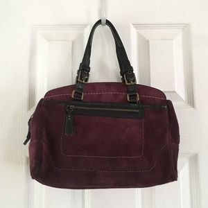 Deep Purple Coach Suede Satchel