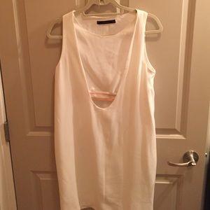 Off white Zara cut out dress