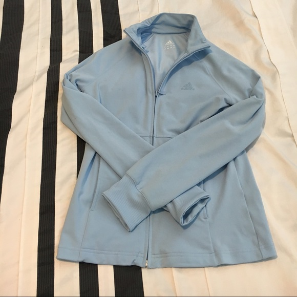 Adidas Full-Zip Light Blue Track Jacket (Size S) & Adidas - Adidas Full-Zip Light Blue Track Jacket (Size S) from ... azcodes.com