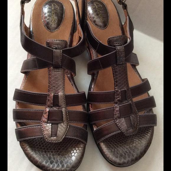eef2f03c1251 Clark s new scrappy sandals flats faux snake skin